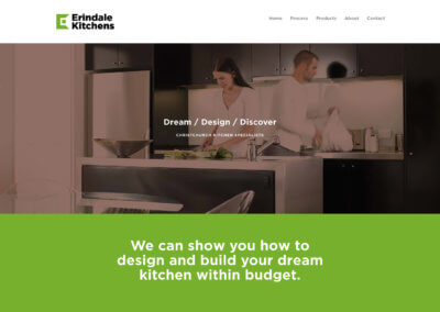 Erindale Kitchens Website