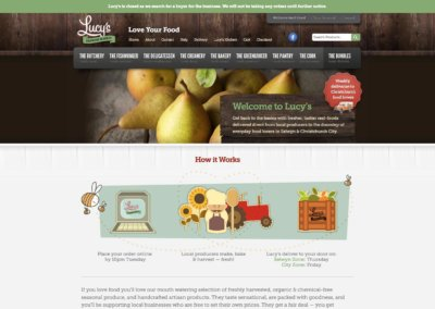 Lucy's Online Growers Market website