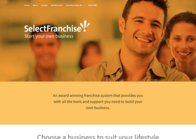 Select Franchise website