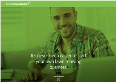 Select Lawn Mowing Franchise website