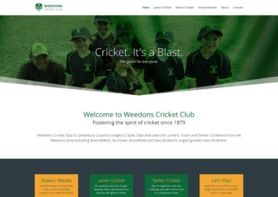 Weedons Cricket Club website